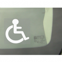 1 x Disabled Logo Window Sticker-Disability Car Wheelchair Logo Sign-Disabled,Disability,Mobility-Car,Van,Truck,Vehicle